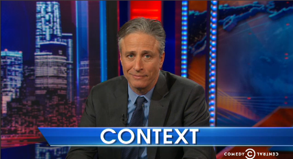 Daily Show segment on context.